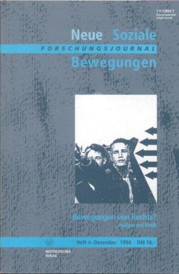 Vollversion (6.12 MB) - Forschungsjournal Soziale Bewegungen