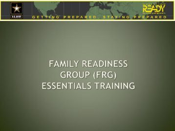 FRG Essentials Online Training with Instructions - Fort Bragg