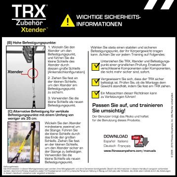 Anleitung Deutsch zum Download - Extender - Transatlantic Fitness