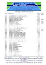 Piko Spur H0~ Preisliste - Neuheiten 2012