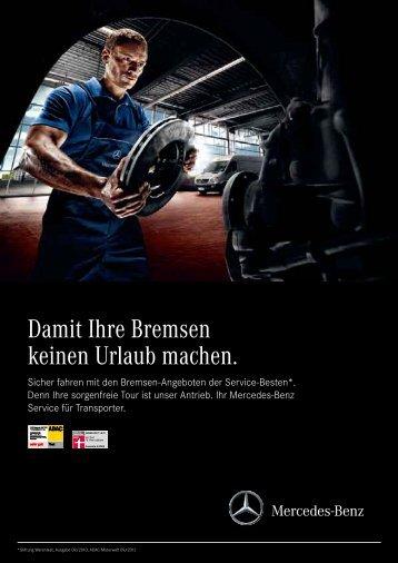 Transporter Bremsen-Angebote für Sprinter und Vito (pdf)