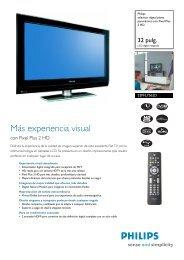 32PFL7562D/10 Philips televisor digital plano panorámico con Pixel ...