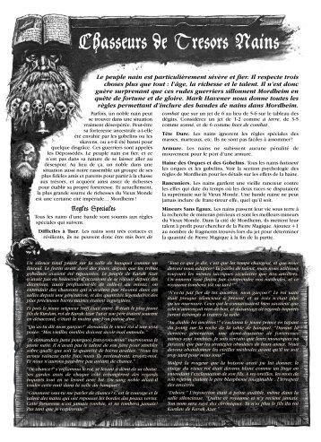 Chasseurs de Tresors Nains - Fichier PDF