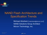 NAND Flash Architecture and Specification Trends - Flash Memory ...