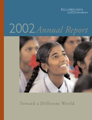 2002 Annual Report - Bill & Melinda Gates Foundation