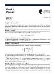Physik I Übung 3