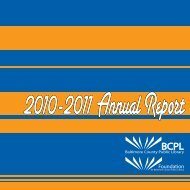 2011 Annual Report - Foundation for Baltimore County Public Library