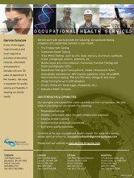 occupationalhealthser vices - Gamma-Dynacare