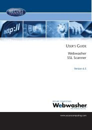 Webwasher 6.5 SSL Scanner User's Guide - McAfee