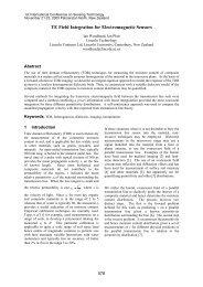 TE field integration for electromagnetic sensors - Lincoln University ...