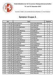 Bürgermeisterpokal 2012 Ergebnisse Gruppe A - FLVW Kreis ...