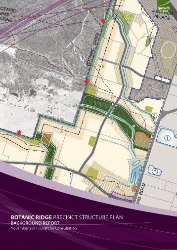 Botanic Ridge Planning Report - Growth Areas Authority