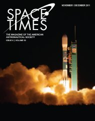 NOVEMBER / DECEMBER 2011 - American Astronautical Society