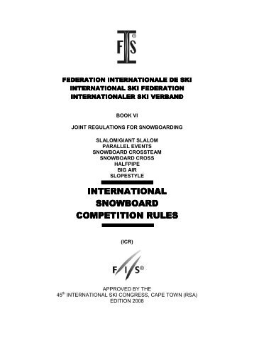 International Competition Rules - FIS