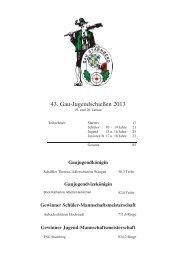 Ergebnisliste Gaujugendschießen 2013 - im Gau Starnberg!