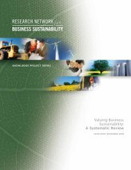 Valuing Business Sustainability: A Systematic Review - Network for ...