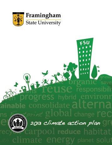 2013 climate action plan - Framingham State University