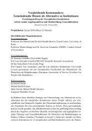 Vergleichende Kostenanalyse gemeindenaher Dienste - ForseA