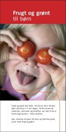 Frugt og grønt til børn - Alt om kost