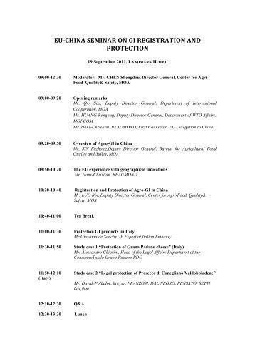 eu-china seminar on gi registration and protection - Franzosi