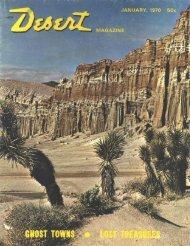 Desert Magazine Book Shop - Desert Magazine of the Southwest