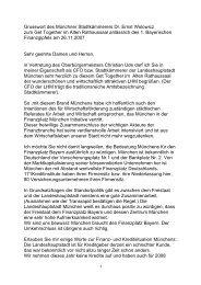 Grusswort des Münchner Stadtkämmerers Dr. Ernst Wolowicz zum ...