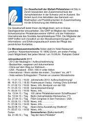 1/10 Die Gesellschaft der Weltall-Philatelisten mit Sitz in Zürich ...