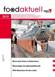 Neuerungen im Lebensmittelrecht IFFA-Neuheiten ... - Foodaktuell.ch