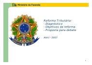 Reforma Tributária - Ministério da Fazenda