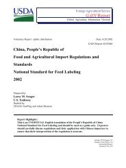 GAIN Report - Foreign Agricultural Service
