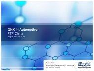 RIM – QNX Automotive Collaboration