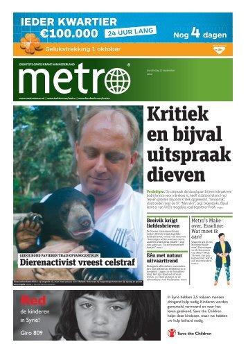 Kritiek en bijval uitspraak dieven - Metro