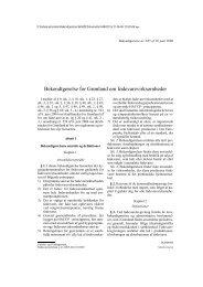 Bekendtgørelse for Grønland om fødevarevirksomheder