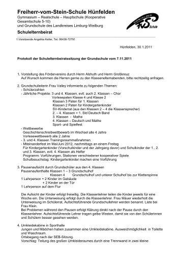 07. November 2011 - Freiherr-vom-Stein-Schule
