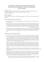 Protokoll der Sitzung - Universität Oldenburg