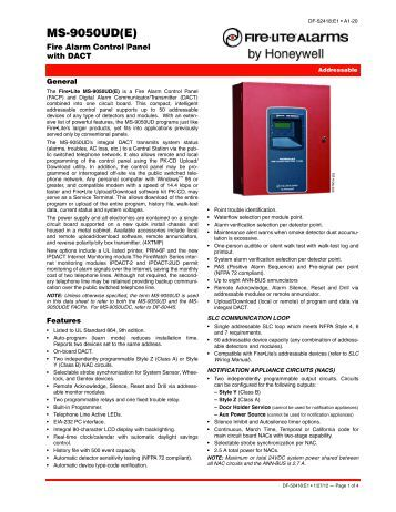 Firelite Ms 9600 programming manual