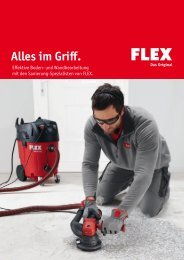 Sanierungsmaschinen - FLEX