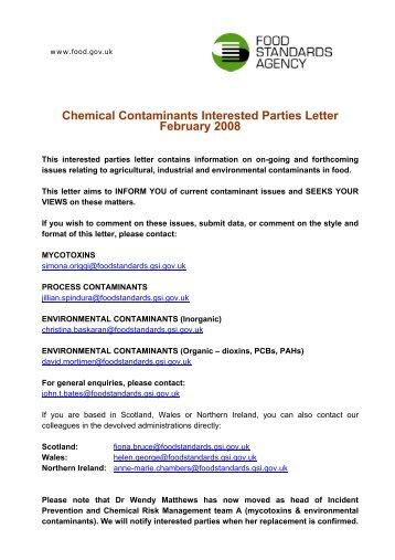 FSA February 2008 Contaminants Update - Food Law