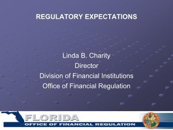 Linda B. Charity Director Division of Financial Institutions