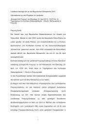 Landkreis beteiligt sich an der Bayerischen ... - Stadt Freyung