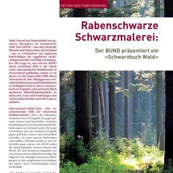 Schwarzbuch Wald - Deutscher Forstverein