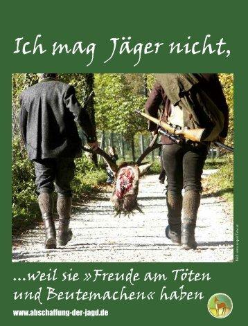 pdf-download Plakate 2 »Ich mag Jäger nicht, weil... - Magazin ...