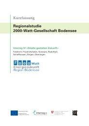 Regionalstudie 2000-Watt-Gesellschaft Bodensee - Stadt Konstanz