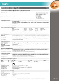 COSHH - Safety data sheet