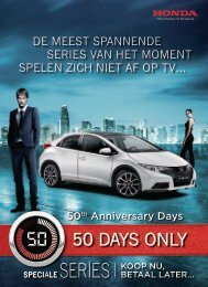 50 DAYS ONlY - Honda