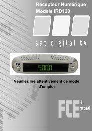 Menus et OSD 6 - FTE Maximal