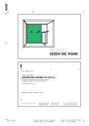 GEGEN DIE WAND NO WALLS - Galerie b2