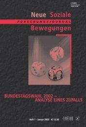 Vollversion (8.52 MB) - Forschungsjournal Soziale Bewegungen