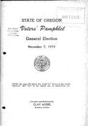 Oregon Voters' Pamphlet, General Election, November 2, 1972