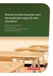 Welche Schule brauchen wir? Herausforderungen ... - Forum Bildung